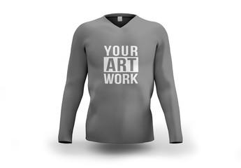 Gray Longsleeve Shirt Mockup