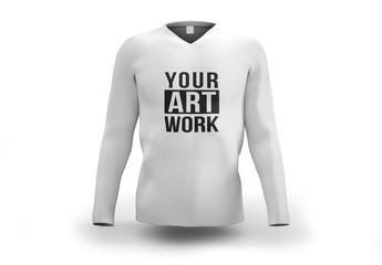 White Longsleeve Shirt Mockup