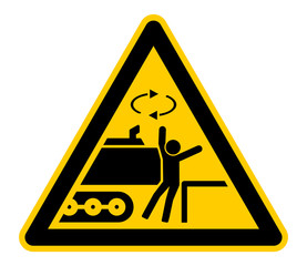 ewsn8 ExcavatorWarningSignNew - ewsn - wso405 WarnSchildOrange - german - Warnung: Bagger / Abstand halten / Gefahrenbereich - Quetschzone - english - warning: excavator / keep clear - g6838