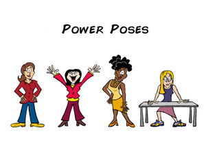 Power poses with women characters