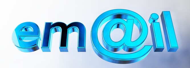 email blue rendered