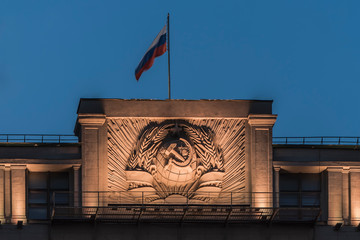 State flag of the Russian Federation over the State Duma Wall mural