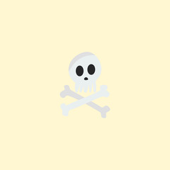 Skeleton icon flat element. Vector illustration of skeleton icon flat isolated on clean background for your web mobile app logo design.