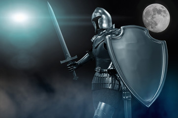 knight in armor with sword