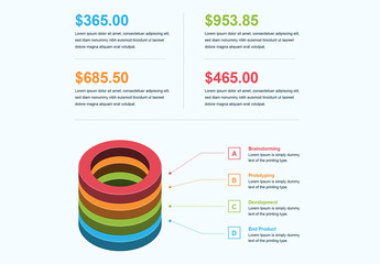 3D Circle Infographic Layout