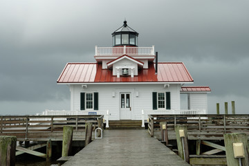 The Roanoke Lighthouse on the North Carolina Coast