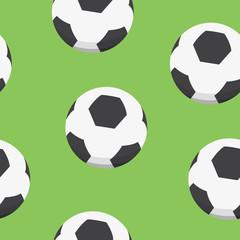 Sport background design. Soccer balls vector pattern.