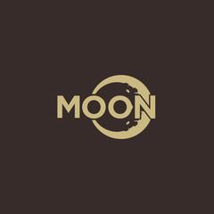 Moon word mark logo design inspiration