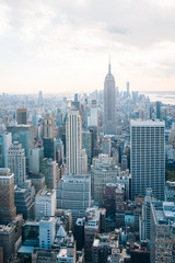 View of the Empire State Building and Midtown Manhattan skyline in New York City