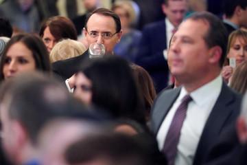 U.S. Deputy Attorney General Rosenstein attends as President Trump hosts a Hanukkah reception at the White House in Washington
