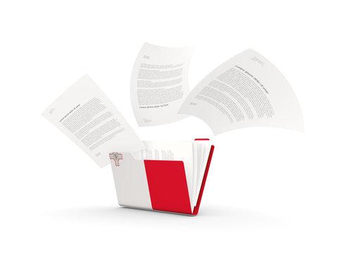Folder with flag of malta
