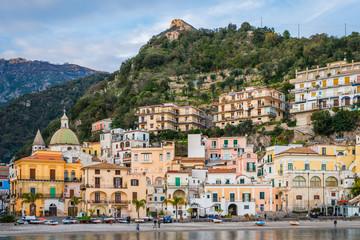View of Cetara, on the Amalfi Coast of Italy