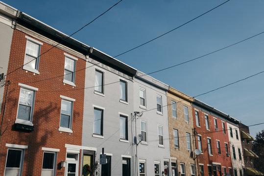 Row houses in South Philadelphia, Pennsylvania.