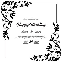 decorative greeting card for wedding concept vector art