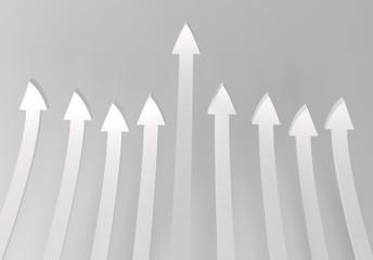 WHITE  arrows on WHITE background