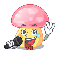 Singing mushroom house in a shape character