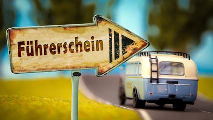 Schild 348 - Führerschein