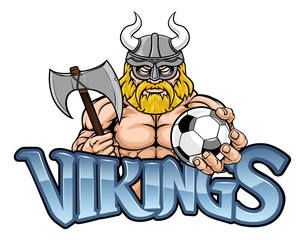 A Viking warrior gladiator soccer football sports mascot