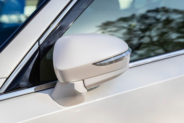 Close-up Car Rearview mirror