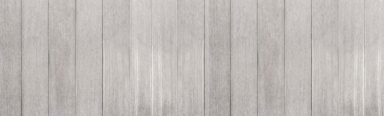 Panorama of Vintage white wood wall pattern and seamless background