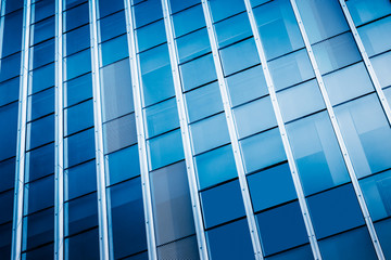 Abstract building. blue glass wall of skyscraper.