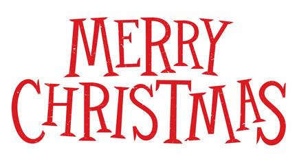 MERRY CHRISTMAS hand lettering banner