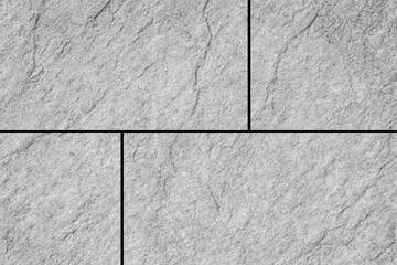 White stone tile floor pattern and seamless background