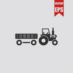 Tractor icon.Vector illustration.