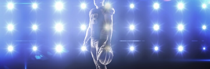 Composite image of composite image of blue spotlight