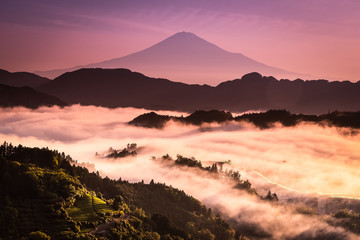 Mt.Fuji and sea of mist in morning