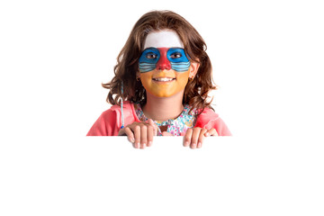 Girl with face-paint