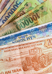 Close- up Vitenam banknote