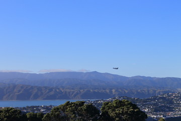 Take off at Wellington Airport