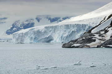 Large Glacier At Paradise Bay, Antarctic Peninsula