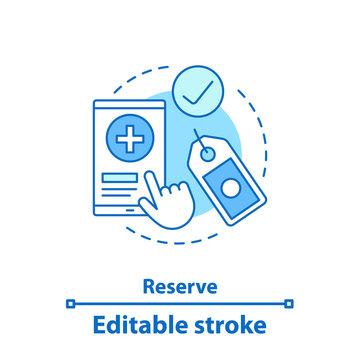 Reserve concept icon
