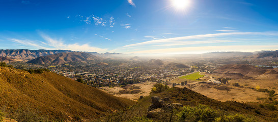 Fotomurales - San Luis Obispo viewed from the Cerro Peak