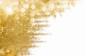 Festive gold glitter background for seasonal greetings