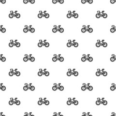 Bicycle pattern seamless vector repeat for any web design