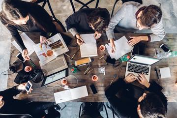 Designers having meeting in studio