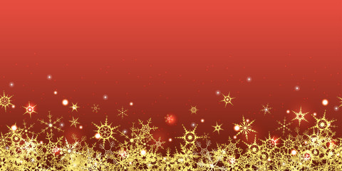 seamless golden snowflakes on colored background