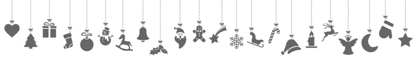 Wall Mural - collection of hanging christmas icons