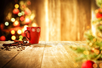 Table background and christmas time
