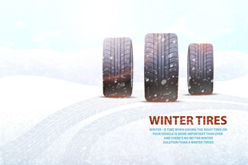 High Quality Winter Tires Commercial with Slogan