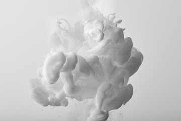 Wall Mural - abstract background with white splash of paint