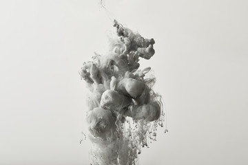 Wall Mural - abstract background with grey paint splash