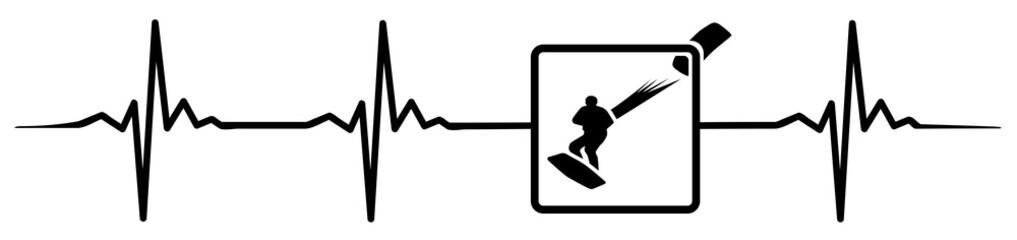 Kite surf heartbeat #isoliert #vektor -  Kite Surfen Herzschlag