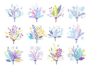 Vector floral bouquets.