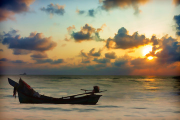 illustration sunrise photo and the fisherman's way of life