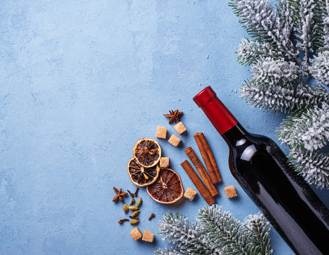 Ingredients for cooking Christmas  mulled wine