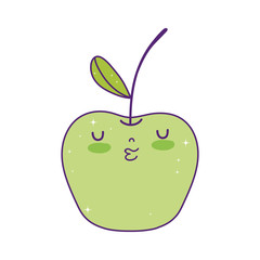 fresh apple kawaii character
